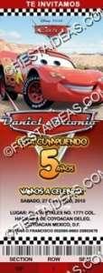Invitaciones De Cars El Rayo Mcqueen Para Imprimir