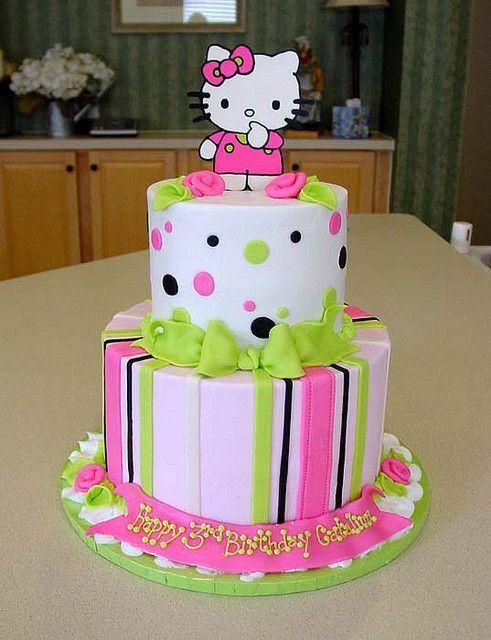 Kitty Decoracion De Tortas ~   negro que hacen original esta decoracion de pastel de Hello Kitty