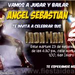 Invitaciones de Iron Man gratis