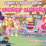Invitaciones de My Little Pony Gratis