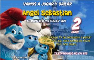 Invitaciones de Los Pitufos gratis