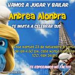 Pitufina y sus invitaciones de Los Pitufos gratis