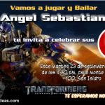Invitaciones de Transformers 3 azul