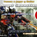 Invitaciones de Transformers 3 fondo blanco
