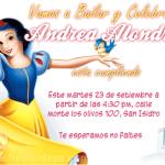 Invitaciones Blanca Nieves 2 Gratis