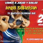 Invitaciones de Alvin y las ardillas