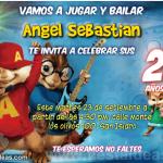 Invitaciones de Alvin y las ardillas Gratis
