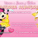 Invitaciones de Minnie Mouse Gratis