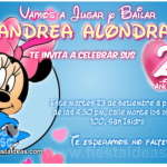 Invitaciones de Minnie Mouse 2 Gratis
