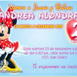 Invitaciones de Minnie Mouse 3 Gratis