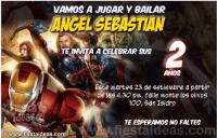 Invitaciones de los vengadores la película