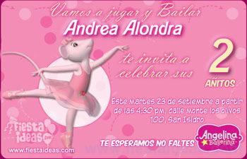 Invitaciones Angelina Ballerina Para Imprimir Gratis