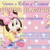 invitacion Baby Minnie Disney