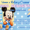 invitacion Baby Mickey Disney