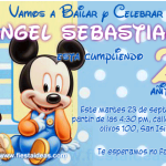 invitación Baby Mickey Mouse Disney