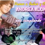 Invitaciones de Justin Bieber 4 Gratis