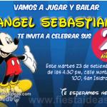 Invitaciones de Mickey Mouse en la casa club