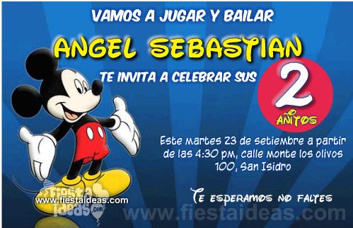 Invitaciones De Baby Mickey Mouse Gratis