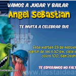 invitaciones Monster inc Gratis