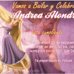 Invitaciones de Princesa Rapunzel Gratis