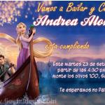 Invitaciones de Princesa Rapunzel 2 Gratis