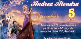 invitaciones Rapunzel