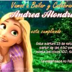 Invitaciones de Princesa Rapunzel 3 Gratis