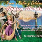 Invitaciones de Princesa Rapunzel 4 Gratis