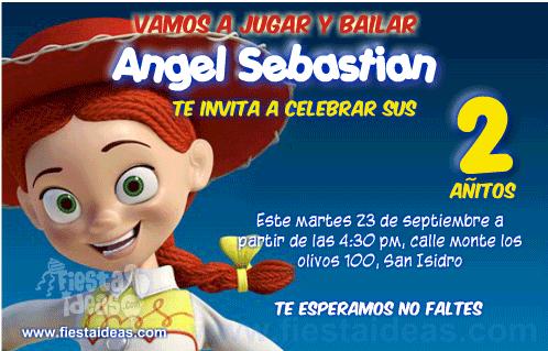 Invitaciones De Cumpleaños De Toy Story Gratis