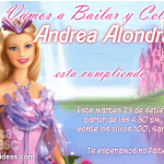 Invitaciones de Barbie