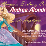 Invitaciones de Barbie fashion