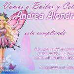 Invitaciones de Barbie mariposa