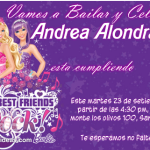 Invitaciones de Barbie rock para imprimir
