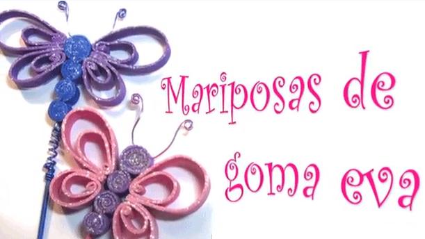 Mariposas de goma eva foami fomi - Mariposas goma eva ...