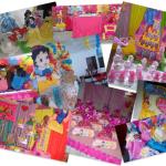 Decoración de fiesta de las Princesas Disney