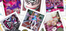 Decoración de fiesta de las monster high