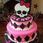 10 originales ideas de decoracion de tortas de Monster High