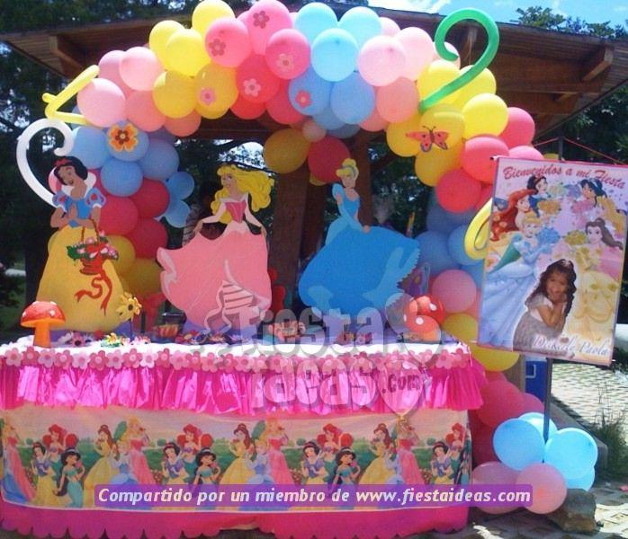 Decoraciones disney con globos imagui - Decoracion fiesta princesas disney ...