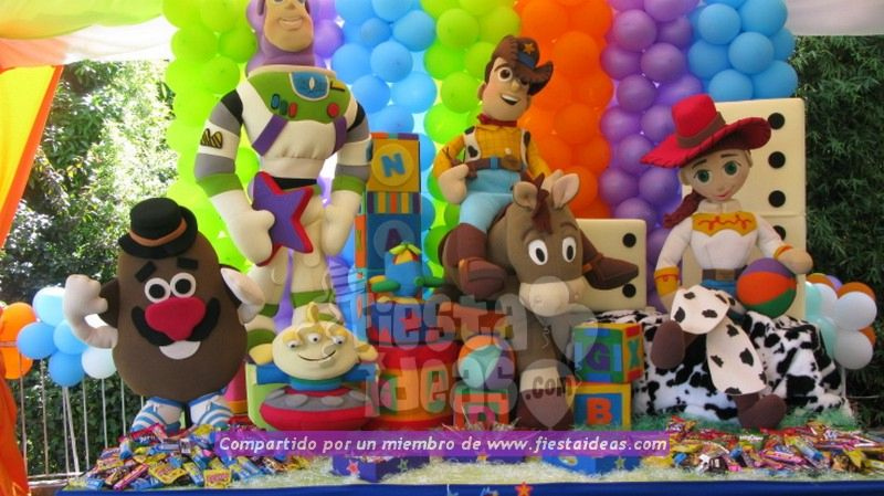 9139a1751ef9a Decoración de fiesta de Toy Story con 40 ideas originales compartidas