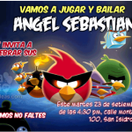 Invitaciones de Angry Birds space Gratis