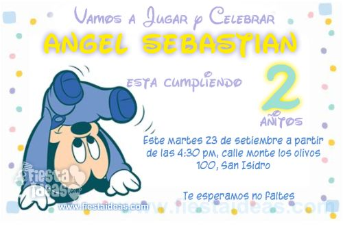 invitaciones de Mickey Mouse baby Disney -