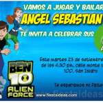 Invitaciones de Ben 10 Alien Force