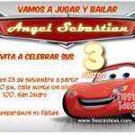 Invitaciones de Cars El Rayo McQueen y sus amigos para imprimir