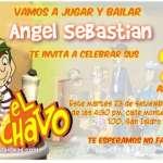 Invitaciones de El Chavo del Ocho y su cilindro