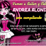 Invitaciones Monster High Draculaura Gratis