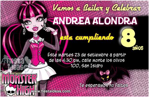 Invitaciones De Monster High