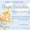 Invitaciones baby shower con bebe y peluches