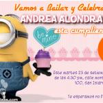 Invitaciones de mi Villano Favorito y cupcake rosa