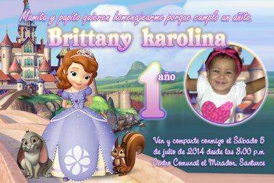 Invitaciones Princesa Sofía Gratis Para Imprimir Para