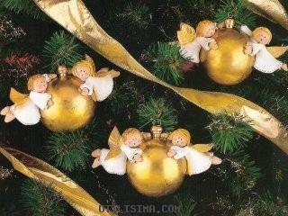 Ideas de esferas decoradas con angeles para adornar el arbol for Adornos navidenos en porcelana fria utilisima